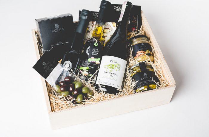 Zestaw Chocolate Olives & Wine